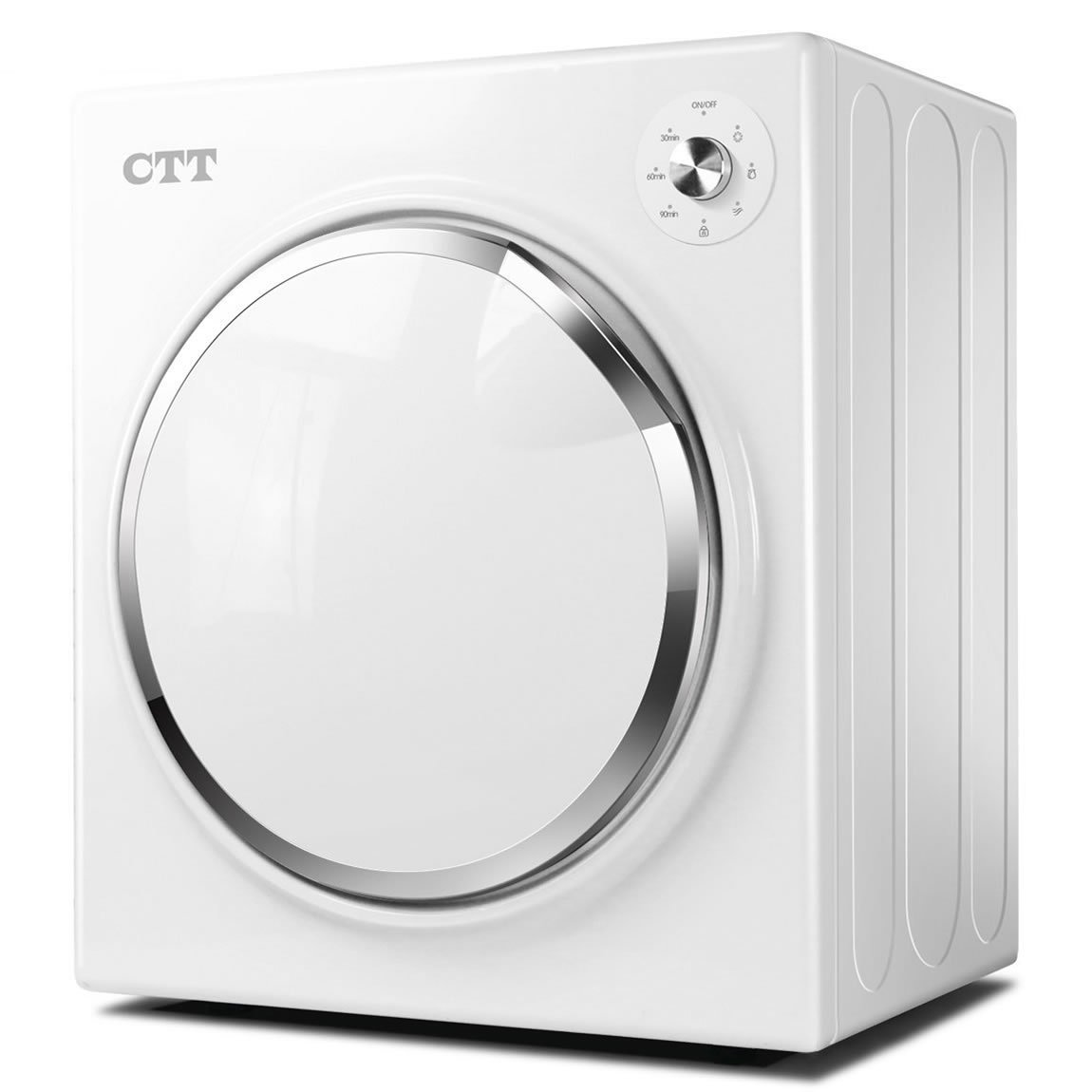 CTT 13 lb. Capacity/3.25 Cu.Ft. Intelligent Compact Protable Tumble Clothes Dryer w/Timer Control, Electric Tumble Vented Laundry Dryer, Intelligent Drying Control Systerm, Humidity Tester MeiLaiLe