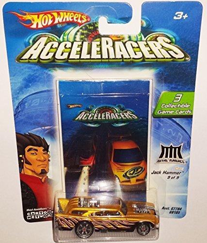 Hot Wheels JACK HAMMER Die-Cast Car AcceleRacers / Metal Maniacs 9 of 9 / 2004 (Teku Acceleracers Cars Wheels Hot)