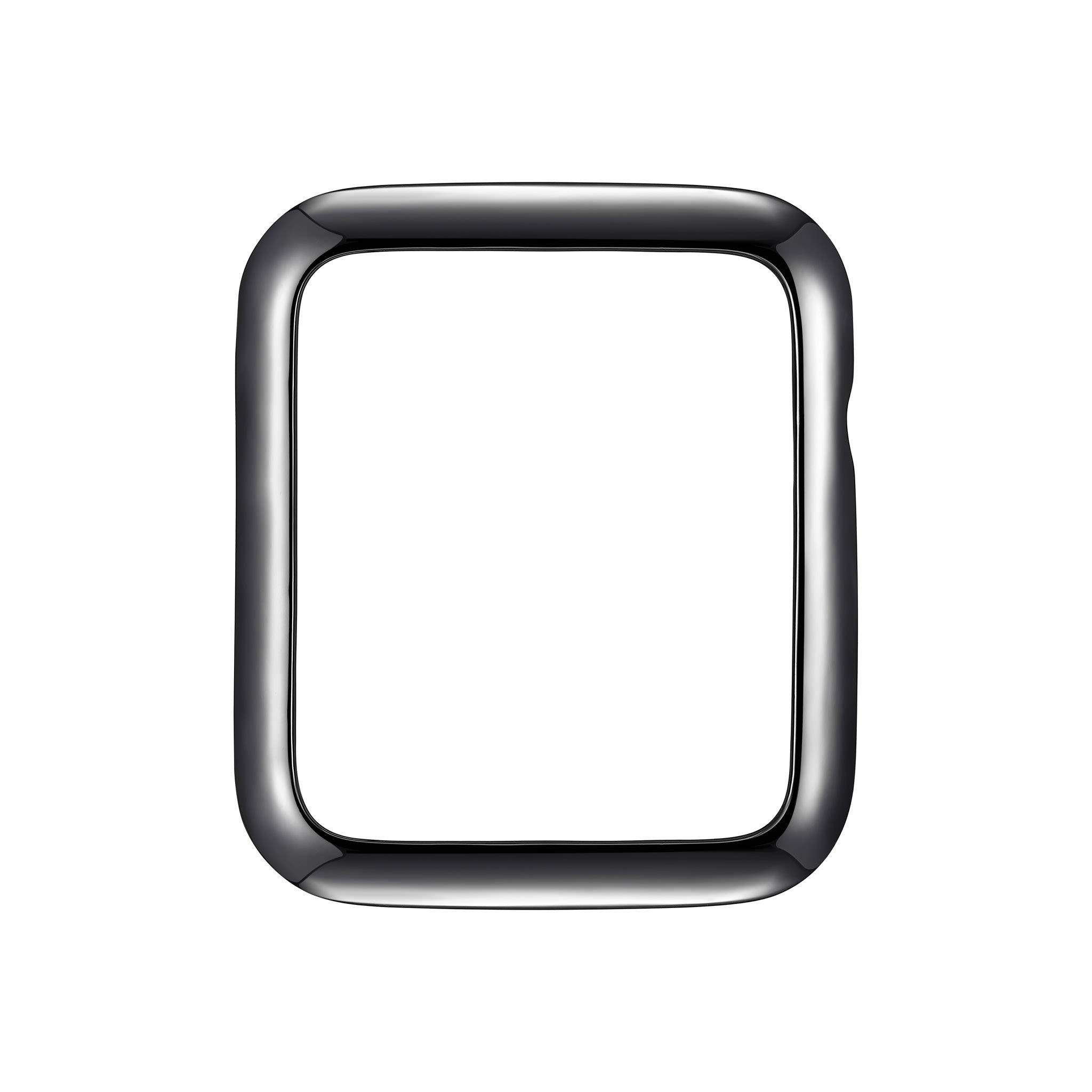 Gunmetal Gray Rhodium Plated Minimalist Sleek Jewelry-Style Apple Watch Case - Color & Size Options - Medium (Fits 40mm Series 4 iWatch) by SKYB