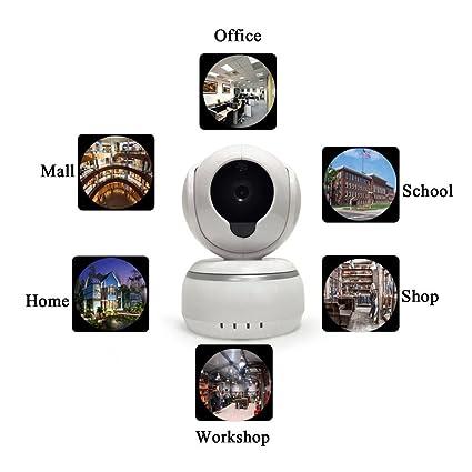 Wifi Wireless Red Webcam Cámara IP Pan/Tilt, de 2 Vías de audio y