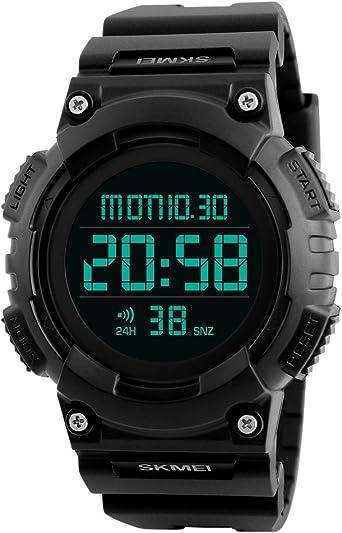 Reloj Digital para Hombre Relojes de Deportes de Gran número con ...