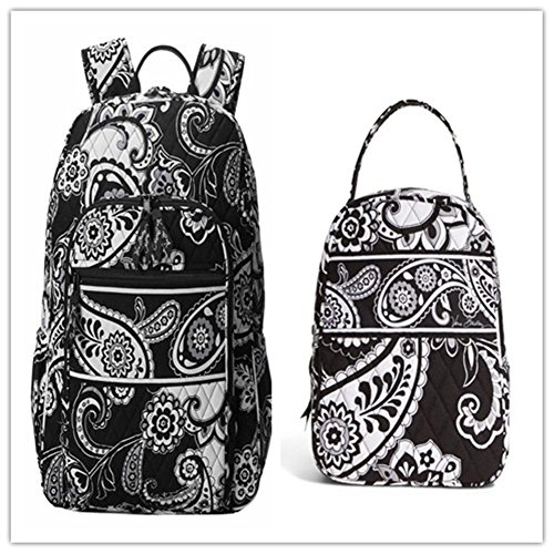 Vera Bradley Campus Backpack and Lunch Bunch Midnight Paisley