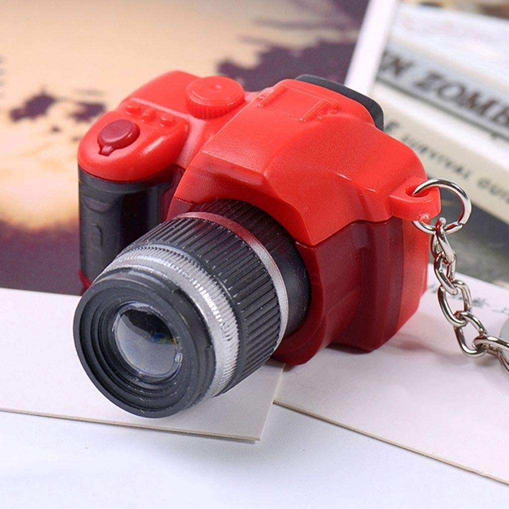 Jinzuke Colore Casuale Vintage DSLR Camera Ornamento Portachiavi Borsa Backbag Borsellino Portachiavi con Decorazioni dattaccatura