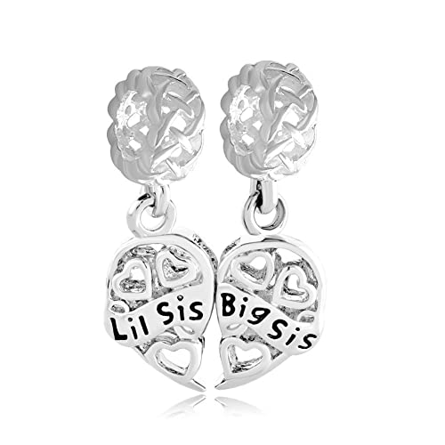 c242ce43d ... Bracelet Sterling Silver Sister Heart Filigree Big Sis Lil Sis Celtic  Knot Gifts Charms Sale Cheap fit ...