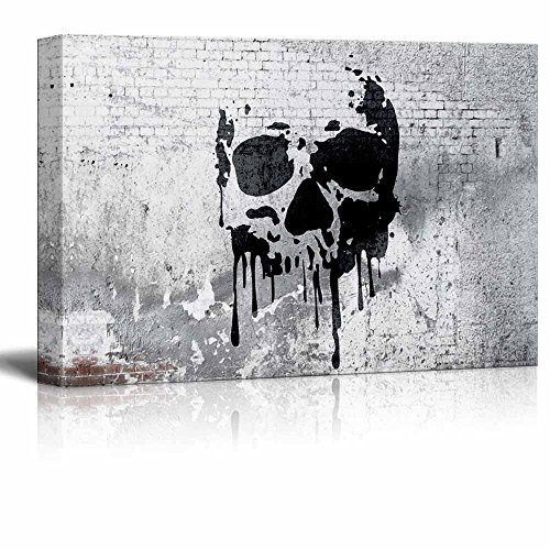 Skull Painting on Shabby Wall Gallery
