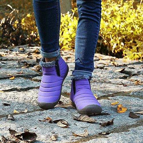 Piatto Donna Invernali Pastaza Boots High Stivali Viola Inverno Caldo Caviglia Outdoor Uomo Top Stivaletti q8tpAxrt