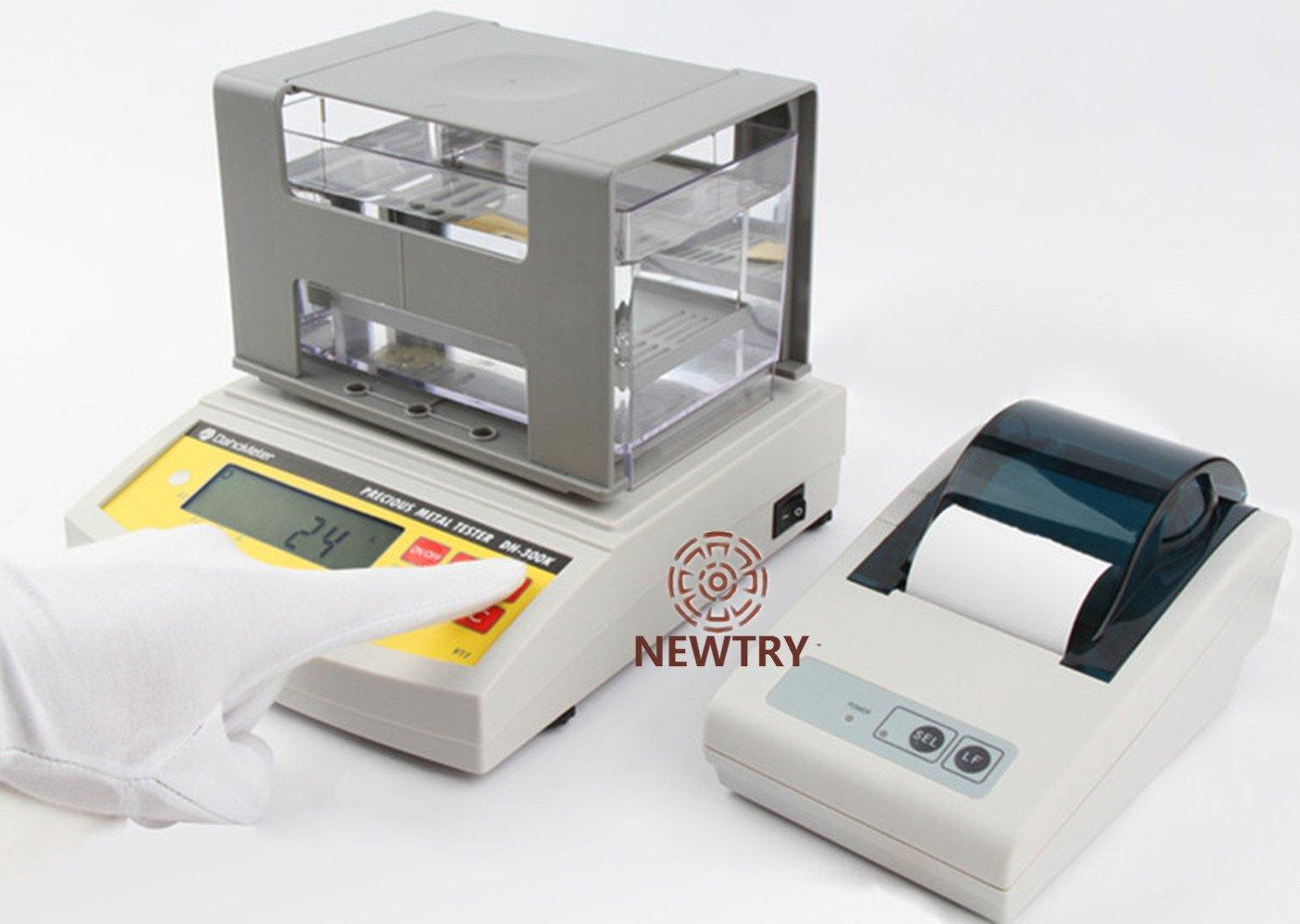 NEWTRY Digital Electronic Precious Metal Tester Gold Purity Analyser Karat Detector Meter Measuring Machine Testing Machine Density Tester Densimeter ...