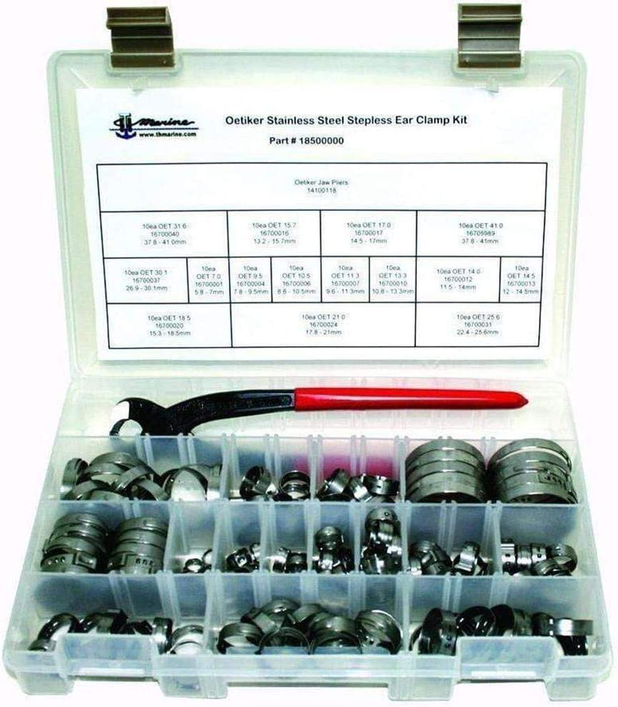 3 Cases Oetiker 16700016 Stepless Ear Clamps 100//Case