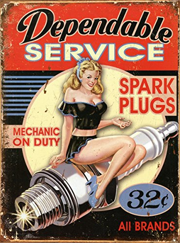 Dependable Service Tin Sign 16in product image
