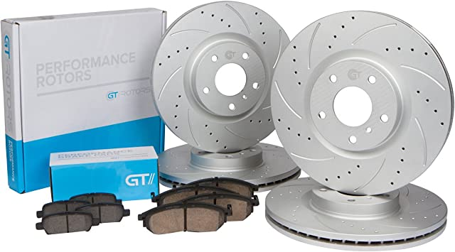 BMW E46 325 M SPORT 2000-2005 FRONT AND REAR BRAKE DISC PADS SET NEW