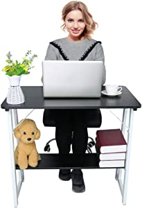 31.5×19.7Inch Modern Simple Style Computer Desk PC Laptop Study Table Office Bedroom Desk,Home Office Corner Desks Household Writing Desk for Bedroom/Conference/Living Room/Home (Black)