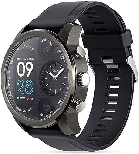 Amazon.com: ZMDHLY T3 Dual Time Zone Quartz Smart Watch ...