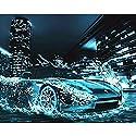 LovetheFamily 数字油絵 数字キット塗り絵 手塗り DIY絵 デジタル油絵 雨の後のフェラーリスポーツカー 40x50cm ホーム オフィス装飾の商品画像