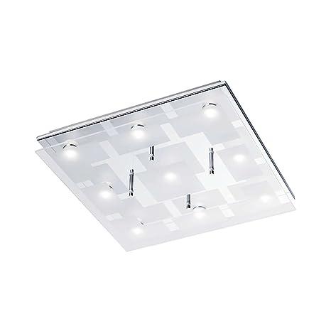 LED Lámpara de techo 9 focos Piso Proyección Cocina 40 cm ...