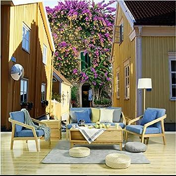LWCX 3D Kreis Blumen Vögel Großes Wandbild Tapete Wohnzimmer Schlafzimmer  Tapeten Malerei TV Kulisse