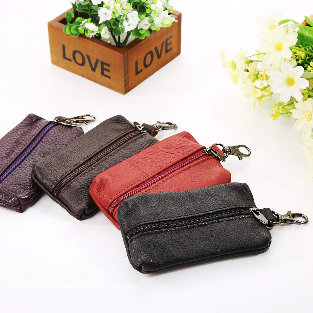 63bfa1b80d91 YUSHHO56T Interior Decoration Key Wallet Genuine Leather Key Holder ...