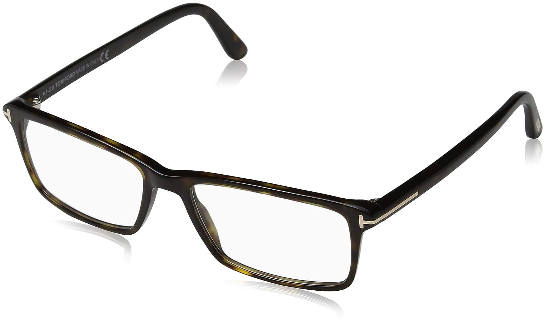 46e10221b1f4 TOM FORD Men s TF 5408 052 Dark Havana Clear Rectangular Eyeglasses 56mm   Amazon.ca  Clothing   Accessories