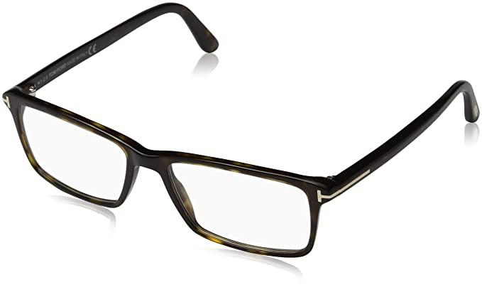 df8d74eed9d Image Unavailable. Image not available for. Color  TOM FORD Men s TF 5408 052  Dark Havana Clear Rectangular Eyeglasses 56mm