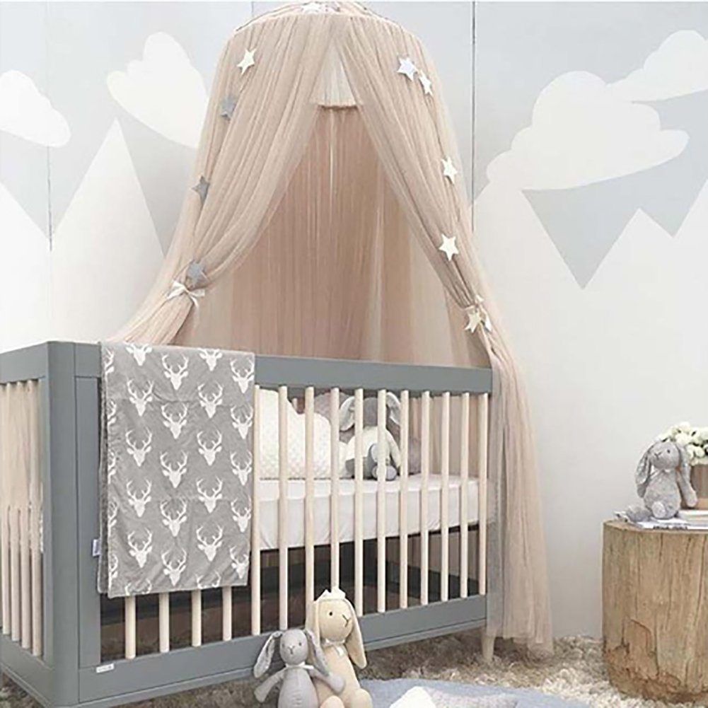 Gemini_mall® Bed Canopy, Kids Dome Mosquito Net Play Tent Good for Baby Indoor Outdoor Playing Reading Bedroom Dressing Room Height 240cm (White)