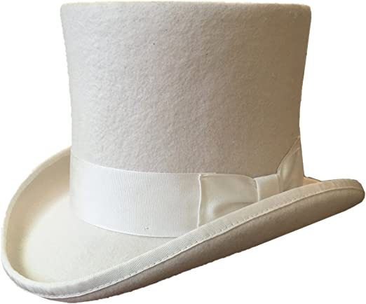 Quality Hand Made Brown 100/% Wool Top Hat Wedding Event Hat 4 Sizes