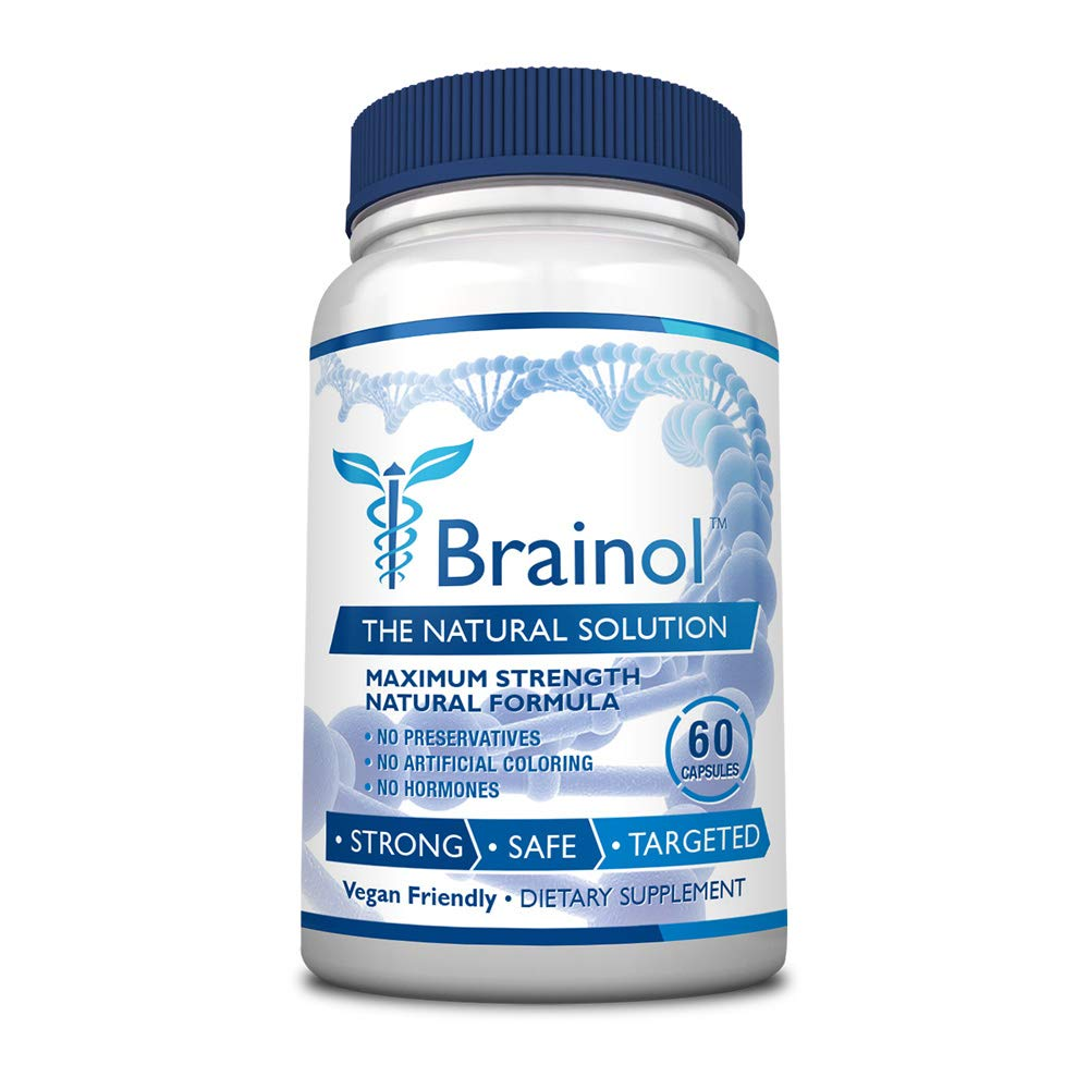 Brainol - The Smartest Choice for a Brain Boosting Nootropic. 60 Capsules (1 Month Supply). Enhance Mental Performance, Focus & Clarity - With DMAE, Huperzine A & More. 100% Money Back Guarantee by Brainol