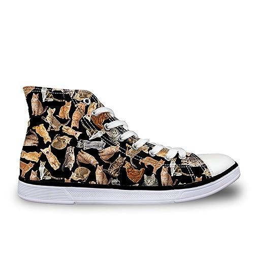 b764ef6fb83f5 Amazon.com | Bigcardesigns High Tops Canvas Shoes Women Men Lace-up ...