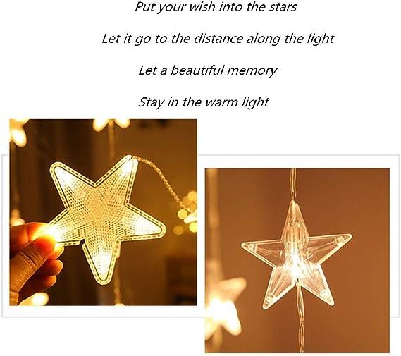 Luces De Hadas De Cortina LED Enchufables, Luces De Navidad, Decorativas De Navidad, Alimentadas Para Interiores Al Aire Libre, Dormitorios, cenadores, fiestas, Jardines Luces De Cadena (Warm White): Amazon.es: Iluminación
