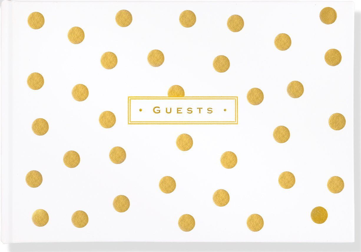 Gold Dots Leather Guest Book pdf