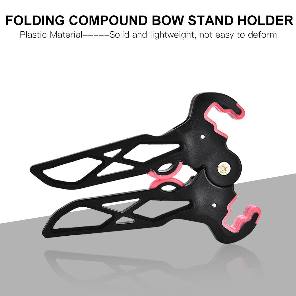 Archery Kick Stand Holder Legs Targets Hunting Compound Bows Support Rack Adjust
