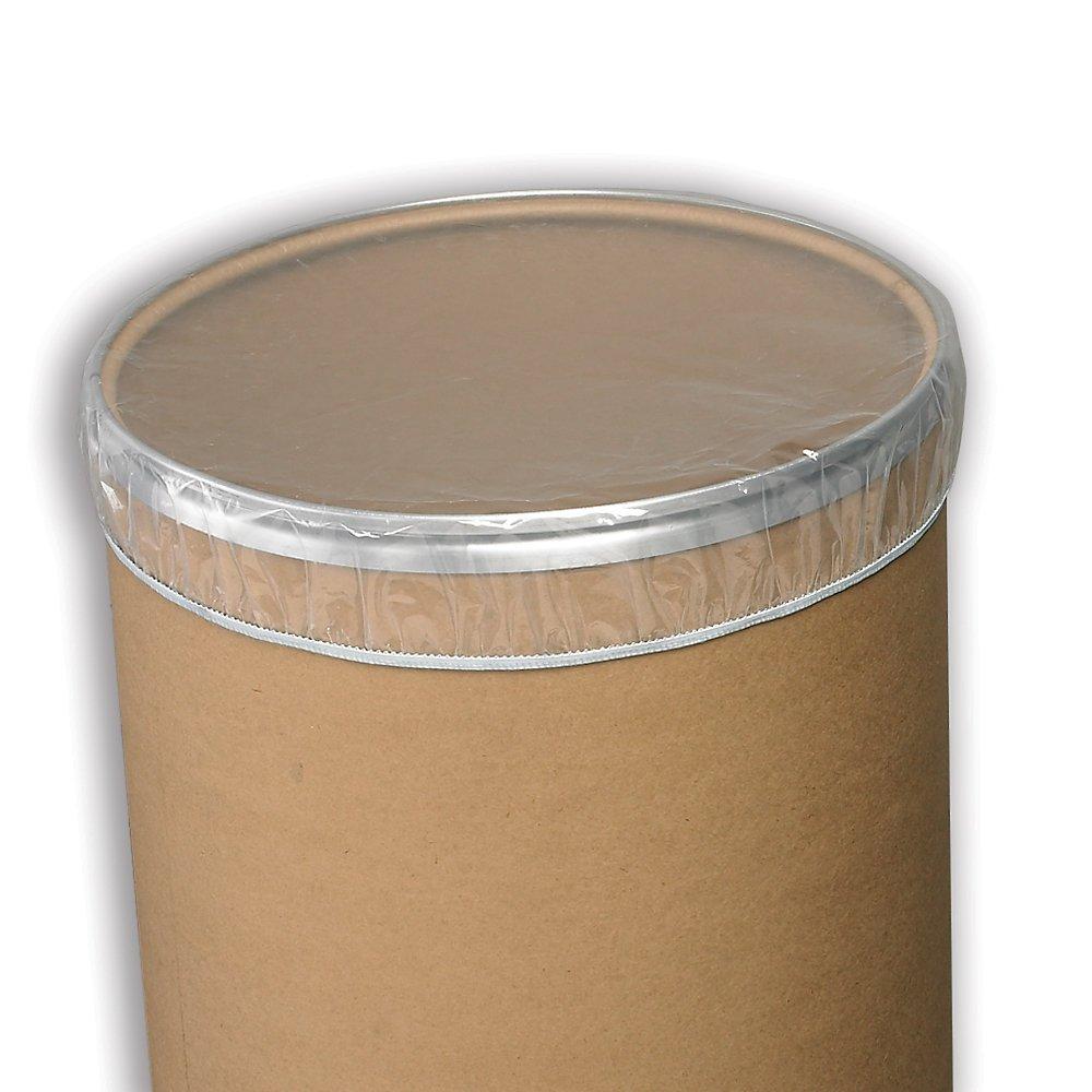 Cdf Elasticized Drum Dust Caps - Plain Dust Cap - Clear - Lot of 100