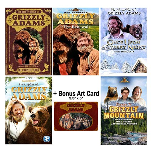 Card Grizzlies - The Life and Times of Grizzly Adams: Complete TV Series Seasons 1 & 2 + Movies DVD Collection with Bonus Art Card