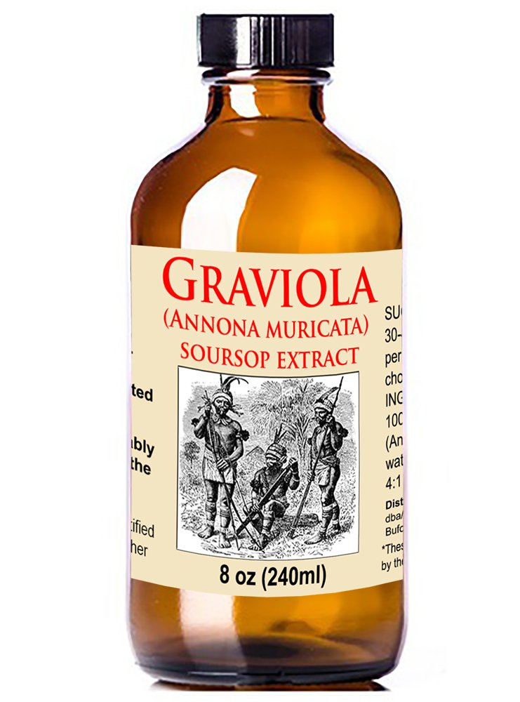 Organic Graviola Liquid Soursop Extract 8 oz Wildcrafted Tincture Annona Muricata Immune System Booster 8oz
