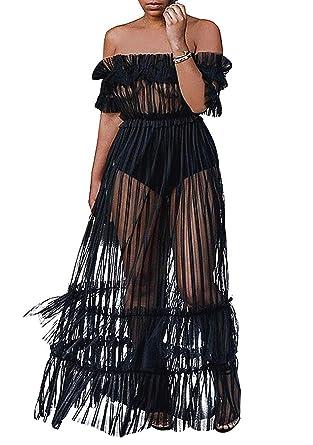 d8973f39043 Robe Longue à Rayures Totalement Transparente et élastique