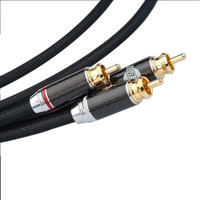 Jib boaac oustic HC de 007 Talis Digital Coaxial y cable de subwoofer 1 x RCA a 2 x RCA y cable, entrada AUX Audio 1 x RCA/RCA macho a 2 x ...