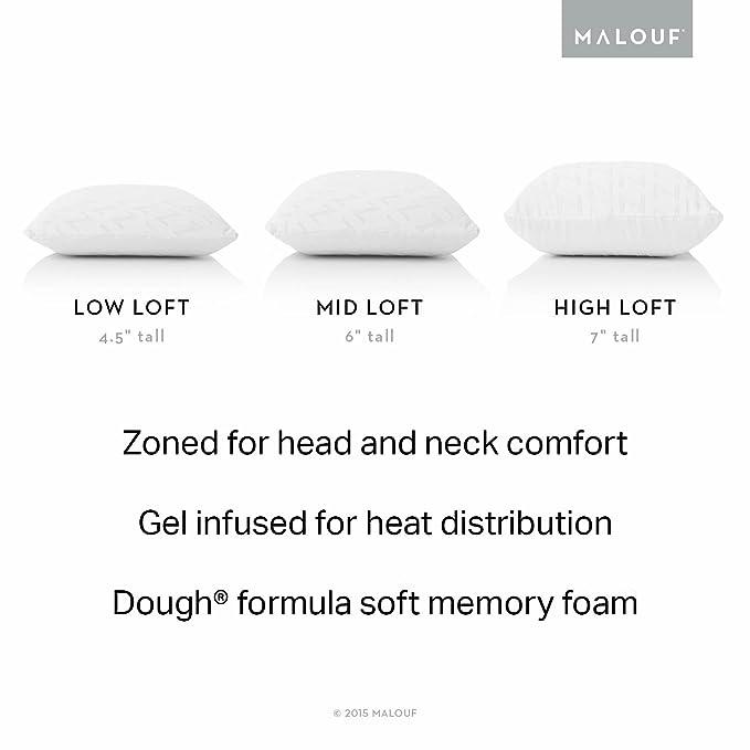 Almohada de espuma viscoelástica con infusión de gel y tecnología ZONED GEL DOUGH: Amazon.es: Hogar