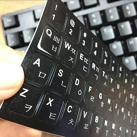 LUGEUK Etiquetas engomadas Coreanas del Teclado Membranas del ...