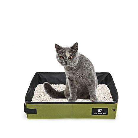 Oncpcare - Arenero Plegable portátil para Gatos y Gatos, Impermeable, para Gatos y Otros