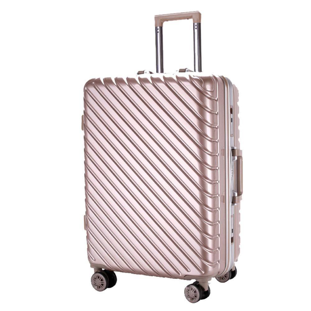 トロリー箱のアルミニウムフレーム箱のPCの男性および女性ビジネス搭乗パスワード箱のスーツケース (Color : シャンパンゴールド しゃんぱんご゜るど, Size : 20 inches)   B07R6PKNPN