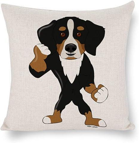 None Brand Bernese Mountain Dog Cushion Cover Clip Art Throw Pillow Cover Rustic Linen Decorative Lumbar Pillowcase For Chair Room Sofa Car Home Decor Housewarming Gift 2525 Inch Luuytf811lc1 Home Kitchen