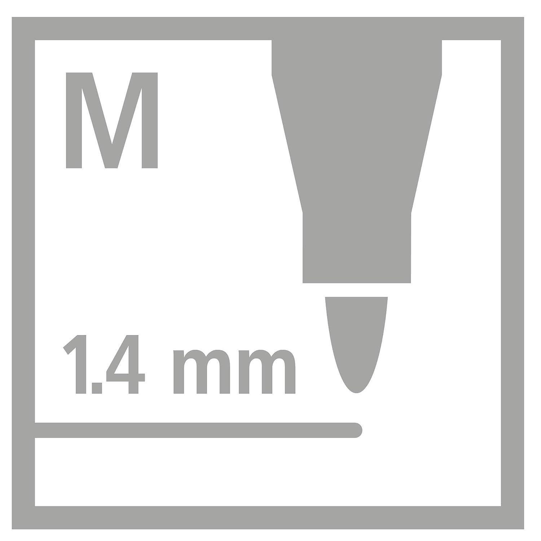 STABILO Pen 68 Metallic Tin of 8 Assorted Colours with Hanging Device Metallic Premium Felt Tip Pen