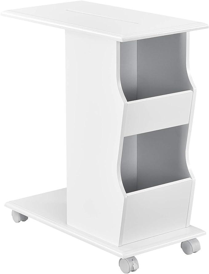 en.casa]®] Mesa de Centro con Ruedas 53 x 30 x 63 cm Carrito ...
