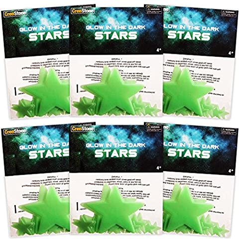 Glow In The Dark Stars Party Favors Pack -- 6 Sets with 35 Stars Each (210 Stars Total, Glow In The Dark Party Supplies)