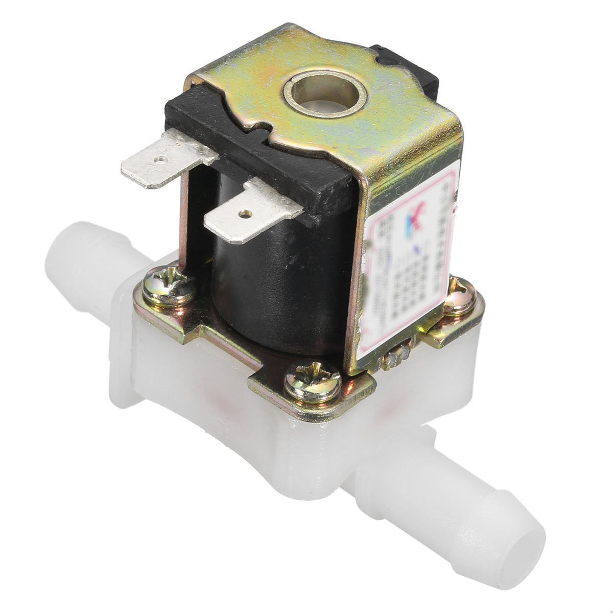 DyNamic 12V DC Electric Solenoid Valve Water Air Inlet Flow Switch Normally Closed 12mm