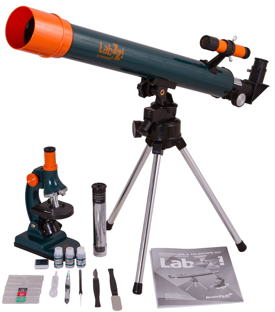 Levenhuk LabZZ MT2 Educational Kit for Kids (Microscope and Telescope) - Science Set with All Accessories by Levenhuk