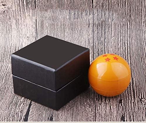 Gift for Family and Friends 3-layer Zinc Alloy Creative Design Manual Herbal Grinder QINJLI Cartoon Dragon Ball Grinder