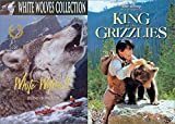 Walt Disney Pictures King Of The Grizzlies + White Wolves II: Legend of the Wild Animal Family DVD set
