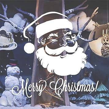 Pegatinas De Pared Feliz Navidad S Calcomanía De Papá Noel Para ...