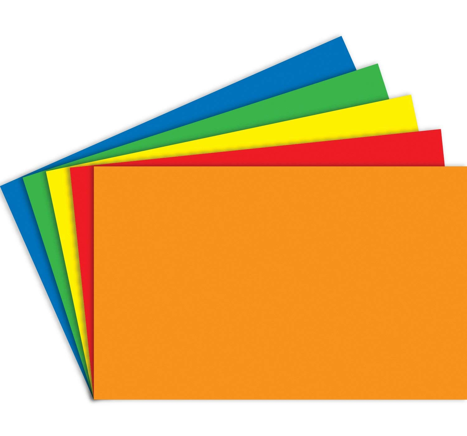 A6 105 x 148 mm Assorted Bright Intense Colours a Pack of 250 Sheets 160gsm Perfect Study Tool Index Revision Learning Blank Flash Cards