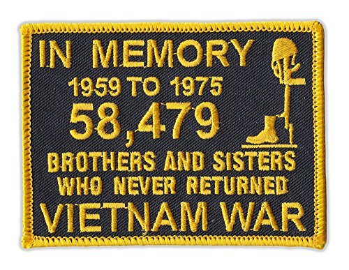 Motorcycle Jacket Embroidered Patch - Vietnam Memorial Pa...