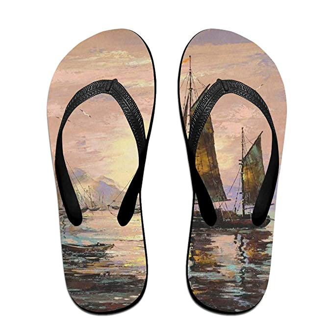 a941413302b6 Flip Flops Sailing Ships Ocean Women s Indoor Slippers Brazil Sandals For  Woman